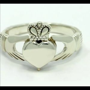 Jewelry - Celtic Claddagh Sterling Silver  Ring Size 5 1/2